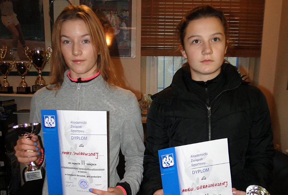 Aniela w parze z Hanią Piotrowską zajmują 2 miejsce