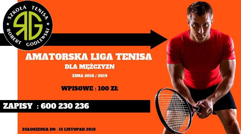 Zapraszamy do zapisów Mężczyzn do Amatorskiej Ligi Tenisa!
