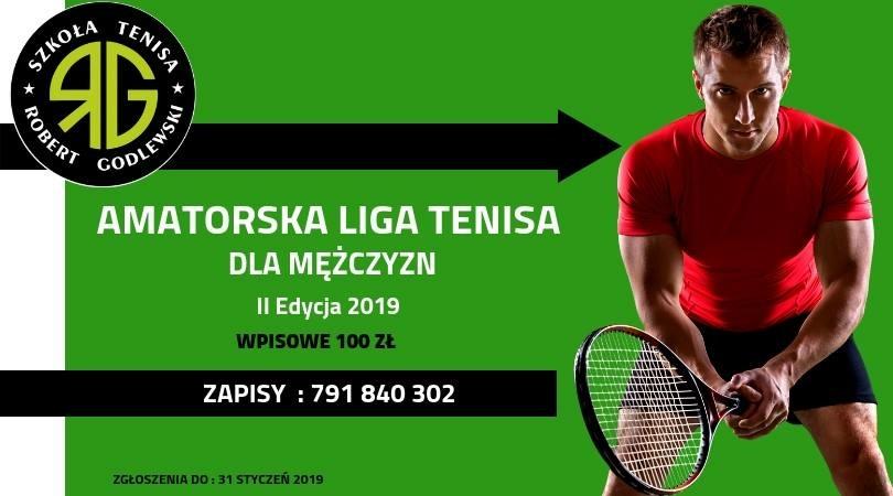 Zapraszamy do zapisów mężczyzn do amatorskiej ligi tenisa – II edycja!