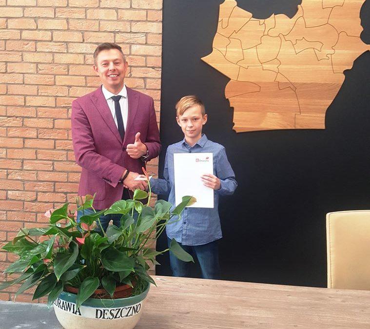 Piotr Kluj otrzymał stypendium